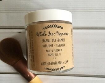 Organic Dry Shampoo - Vegan Dry Shampoo - Brunette Hair - Essential Oils - Dry Shampoo - Blonde Hair - Brunette Dry Shampoo