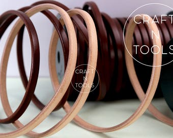 Regaliz Natural Leather Cord 10 x 6.0mm/Licorice Leather/Cuff Leather Cords/Leather Cording/Wrist Bracelet Cord