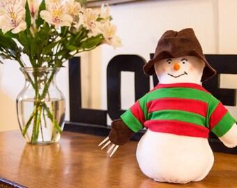 Freddy Krueger plush snowman