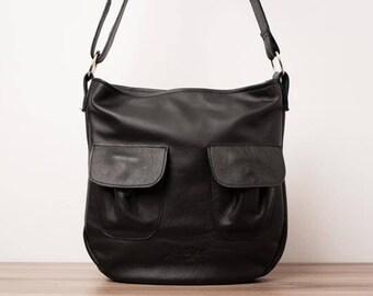 Leather handbag, leather purse, leather messenger bag - The Red Charlotte