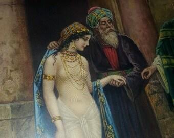 STEPHAN SEDLACEK Orientalist Print of Harem Girls - Mystic Lures of the Orient