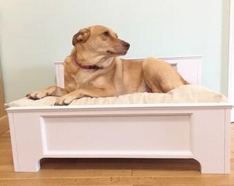 Wooden dog bed, dog bed frame, reclaimed door dog bed, Dog bed