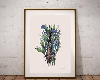 Impresión, Impresión digital, Nature art, knife, Artwork, Limited edition, recycled, Illustration, Drawing