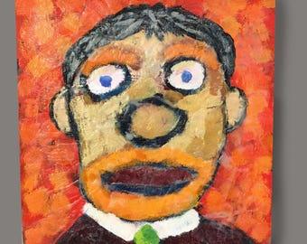 Self portrait of the artist / Man in green tie
