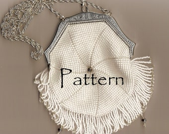 The Sierra, a Bead Crocheted Vintage Replica Purse Patter
