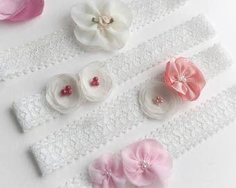 Toddler girl headbands, flower girl headbands, Christening hair accessories, party headbands for girls, fits 1-3 years old