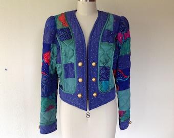 1980s Jeanne Marc patchwork jacket