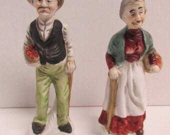 Vintage Crown DeVille Figurines Old Man Old Lady