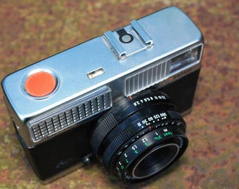 AGFA Silette LK sensor in leather pouch vintage camera from 1969 made in Germany