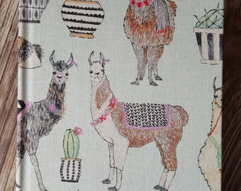 Adorned Llamas Fabric Covered Journal