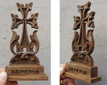 Armenian Cross, wooden cross, Christianity, Prayer corner, video here - https://youtu.be/wj1TGZMDNRk