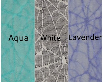 "Spider Web Lace Fabric, Apparel Lace Fabric by the Yard ""LCXX1V-2222"""