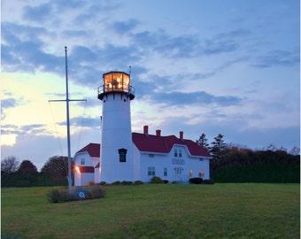 Chatham Lighthouse ~ Cape Cod, Lighthouse Photography, Coastal Home Decor, Nautical, Photography, New England, Sunset, Artwork, Wall Art