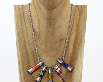 Necklace artist oil paint tubes