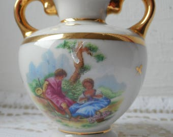 stunning vintage Limoges porcelain decorative small miniature vase