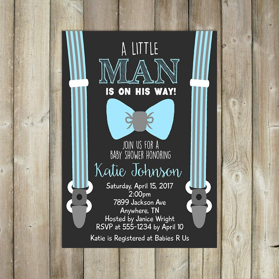 little man baby shower invitation boys baby shower invite