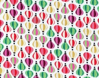 """Fabric """"Up, Up and Away"""" in Hot Air Balloon Print - By the Yard"""