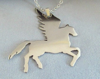 Sterling Silver Pegasus Pendant