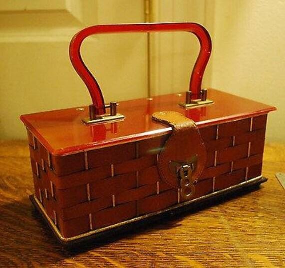 Leather Weave Dorset - Rex Fifth Avenue Vintage!