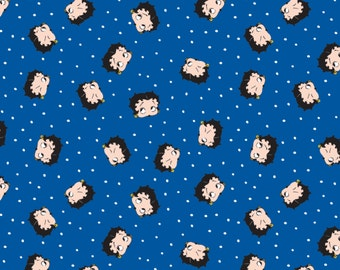 Betty Boop Dot on Royal from Camelot Cottons by the yard