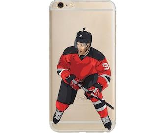 Hallsy Hockey Phone Case / Hockey Phone Case / Fits iPhone 5, iPhone 6, iPhone 7 / Handdrawn iPhone Case by DangleGear Co