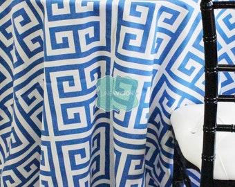 Tablecloth   Premier Prints   Apollo   Cobalt White   Choose Your Size   Table  Linen