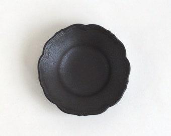 RINKA-dish S (Black Mat), Made to Order for 2 months, Awabi ware (14004013-SKM)
