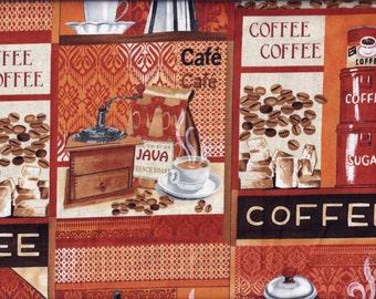 Coffee Lovers Rust Curtain Valance