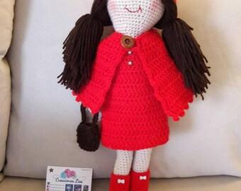 Caperucita roja en amigurumi, Little Red Riding Hood