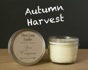 Autumn Harvest Soy Candle Mason Jar - 170g - 30 + Hour Burn Time