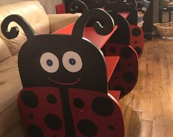 Ladybug bookshelf