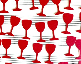 Wine Glass Confetti Table Scatter Red Bachlelorette Party Birthday Dinner Party Special Event Wine Tasting