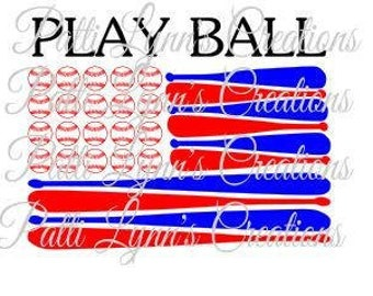 SVG- PLAY BALL (ungrouped)