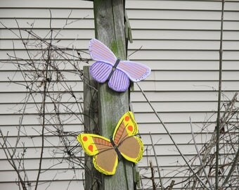 Hand Painted Butterfly Yard Signs