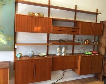 Items Similar To Sale Mid Century German Shrunk Wall Unit