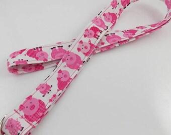 Pig Lanyard Piggy Lanyard Pig Keychain Pink Pig Key Ring Piglet Lanyard Piggies Teacher Lanyard Farm Lanyard Pig Necklace