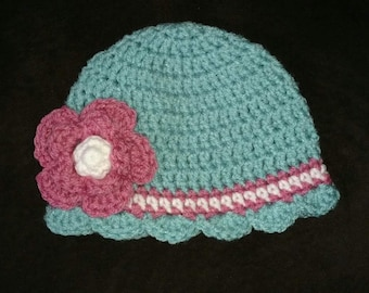Baby girl brimmed hat