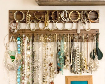 Reclaimed Horizontal Necklace Rack