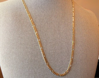 Gold Figaro Vintage 14kt Chain Necklace 20""
