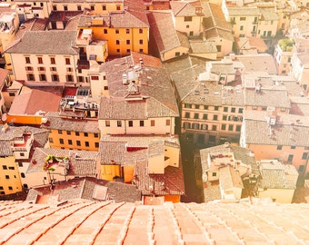 Florence, Photography, Italy Print, Wall Art, Florence Print, Italy Wall Art, Extra Large Wall Art, Italy Photography, Orange, Office Decor