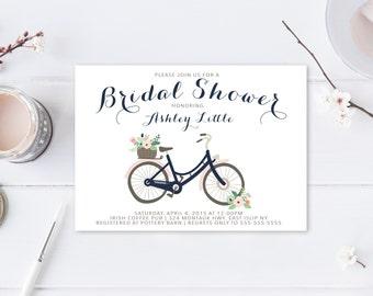 Bridal Shower Invitation, Floral Bridal Shower Invite, Pretty Bridal Shower Invite, Printable Bridal Shower Invite, Shower Invitation [210]
