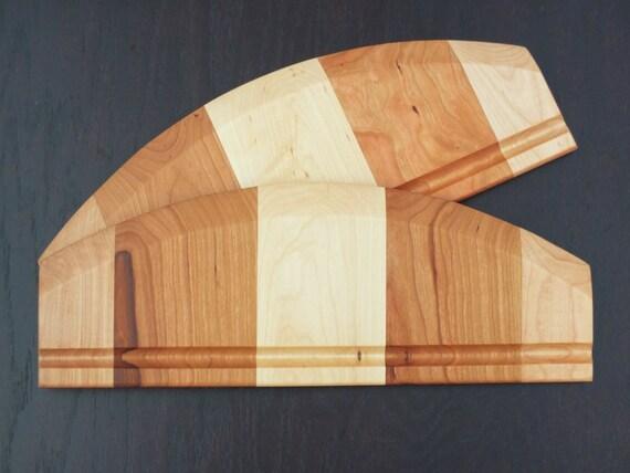 Wooden Pizza Cutter or Dough Cutter in Cherry and Maple Wood.  Pizza Cutter-Dough Cutter-Kitchen Gift-Baker-Wooden Utensil-Housewarming Gift