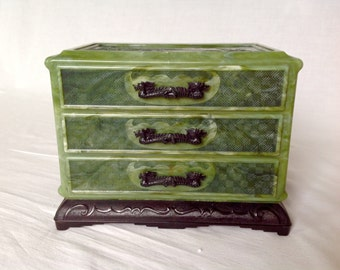 Catalin Plastic Chinoiserie Jewelry Chest