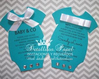 Baby Shower invitation, Onesie Invitations, invitations Baby Shower, Onesie invitation