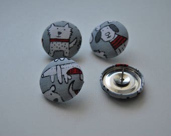 Covered button push pins (size 45-11/8, 27mm)