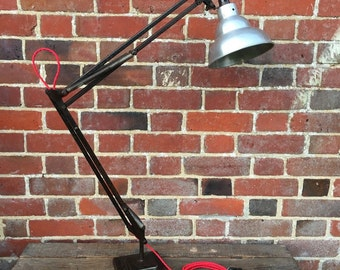 Industrial Vintage 1950s Original Anglepoise Herbert Terry Factory Desk Lamp