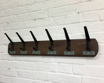 Industrial Vintage School Locker Room Coat Hooks