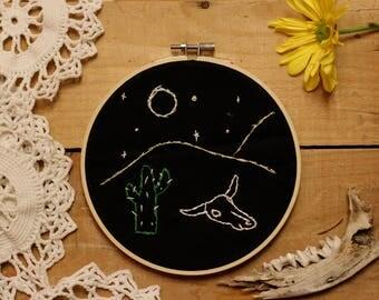 "6"" Desert Night Scene Embroidery"
