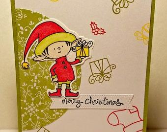 Santa's Elves Gift Christmas Card