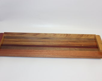 75Handmade, Mixed Exotic Hardwood Long Cheese Board
